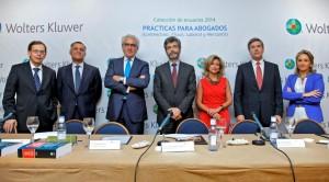 de izquierda a derecha: Ricardo Gómez-Barreda, Rafael Sebastián, Salvador del Rey, Carlos Lesmes, Rosalina Díaz, Antonio Hierro y Cristina Sancho.