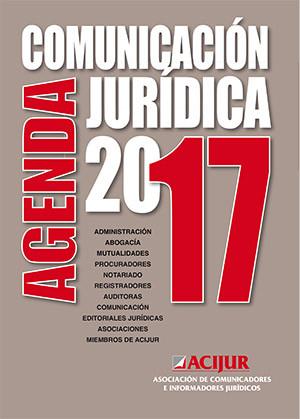 ACIJUR, Portada Agenda Comunicación Jurídica 2017