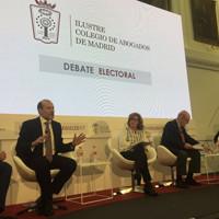 Patricia Rosety, presidenta de ACIJUR, modera debate candidatos a decano del Colegio de Abogados de Madrid
