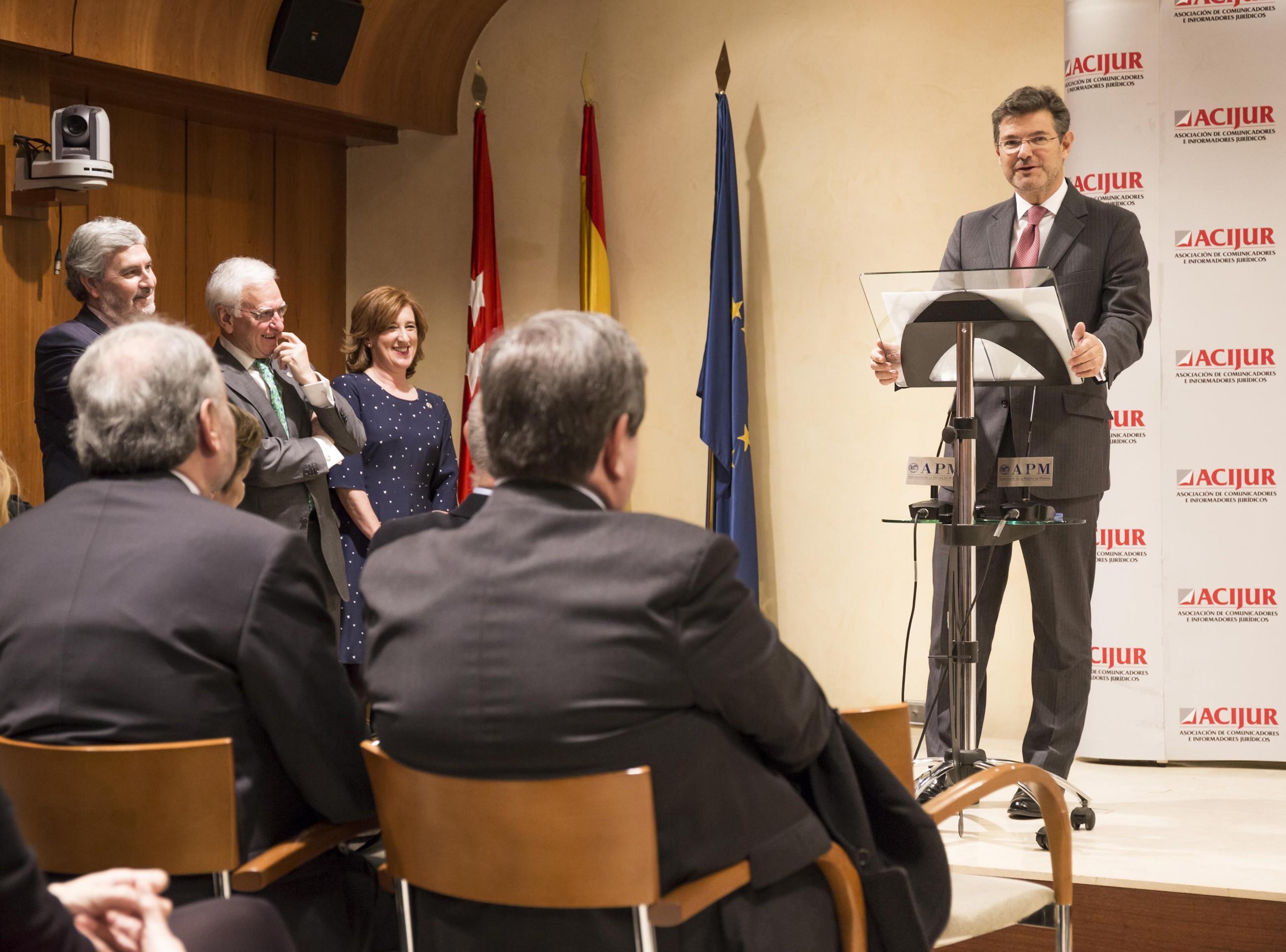 El ministro de Justicia, Rafael Catalá, estará presente de nuevo este año en los Premios Puñetas de ACIJUR