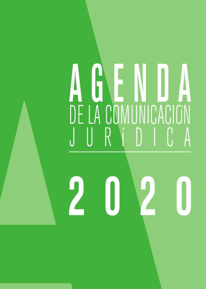 ACIJUR, Portada Agenda Comunicación Jurídica 2020