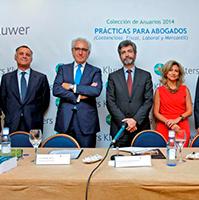 de izquierda a derecha: Rafael Sebastián, Salvador del Rey, Carlos Lesmes y Rosalina Díaz