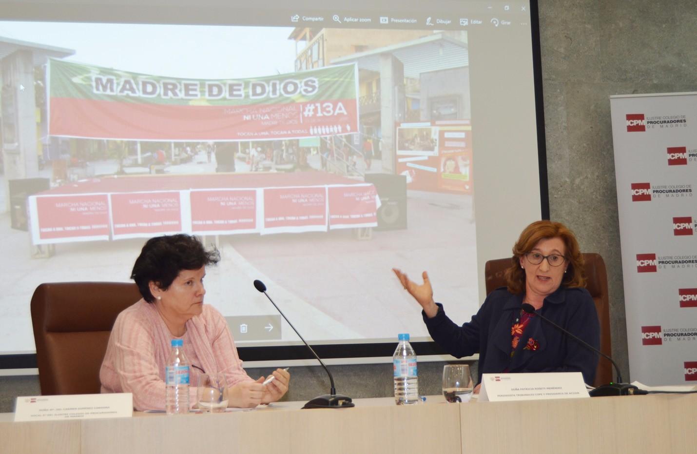 Intervemción de Patricia Rosety, Presidenta ACIJUR, en el Ilustre Colegio Procuradores de Madrid