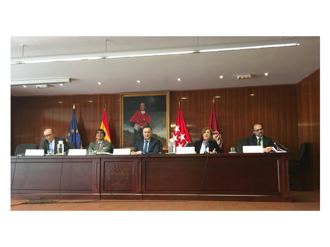Intervinientes en las Jornadas Administración de Justicia y Libertad de Prensa. Mesa redonda