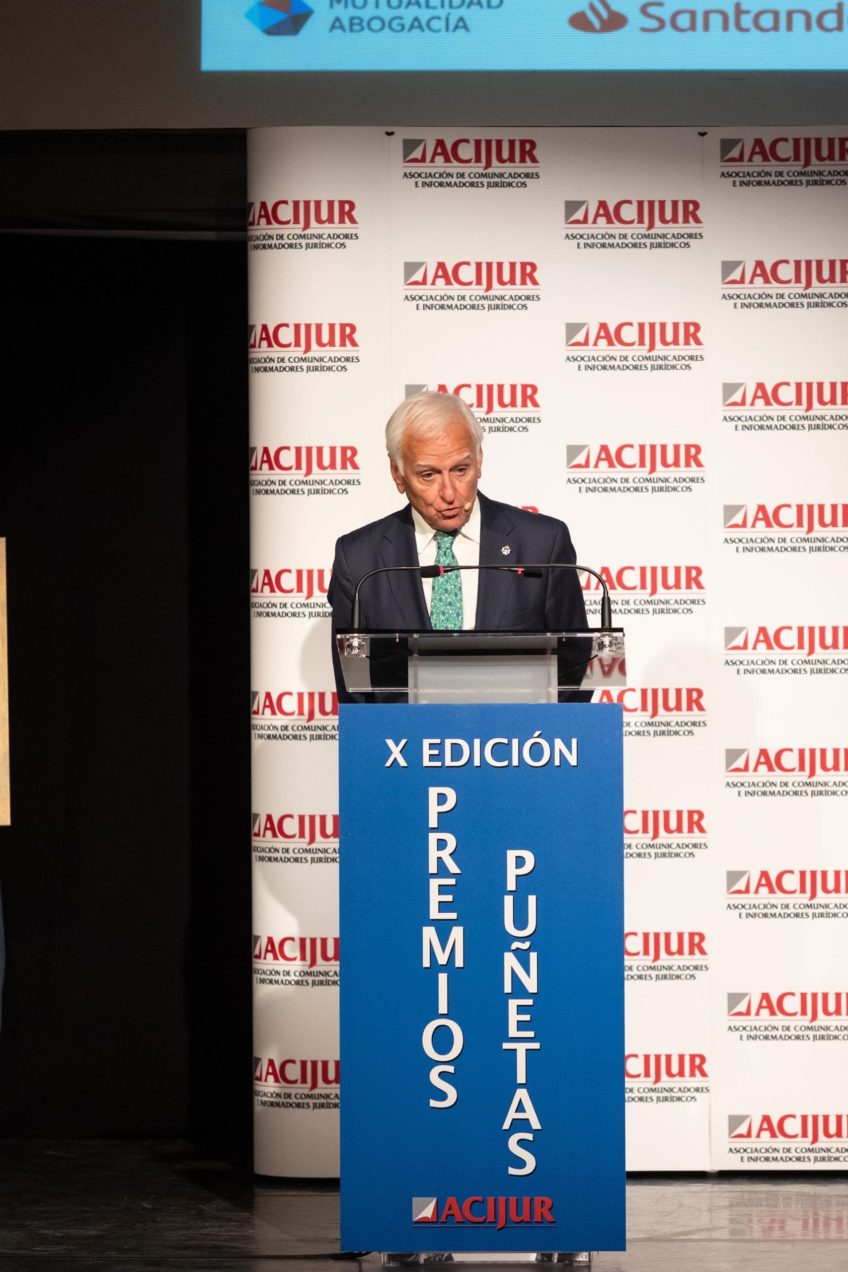Francisco Muro en un momento del acto de los Premios.