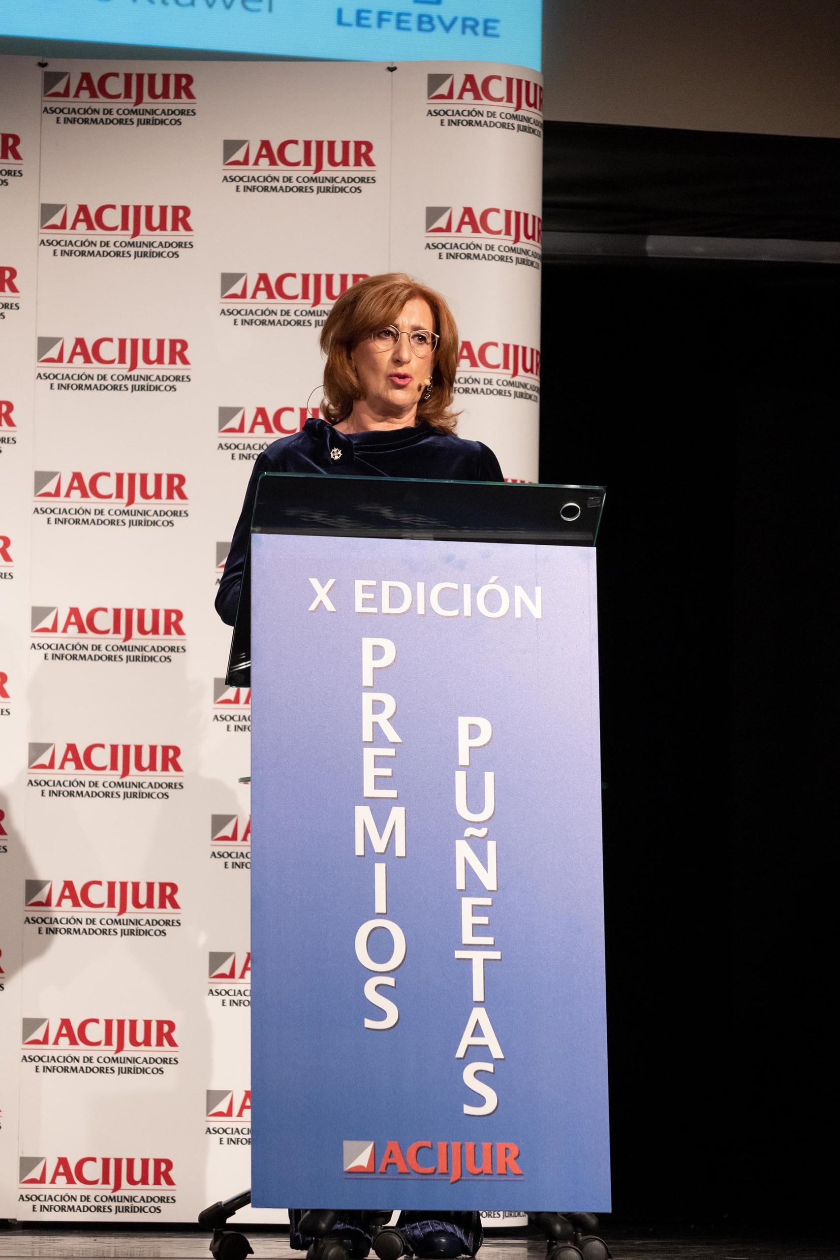 Patricia Rosety introduce la intervención de la ministra de Justicia, Pilar Llop.