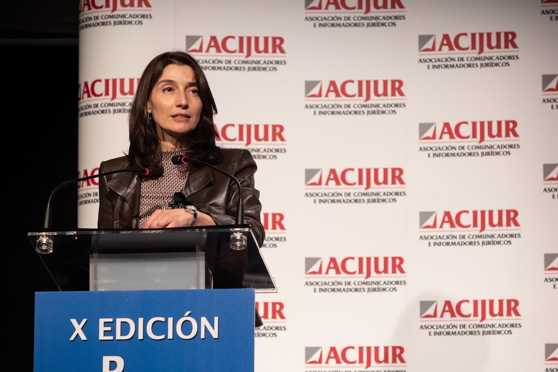 La ministra de Justicia, Pilar Llop, clausura el acto de la X Edición de los Premios Puñetas.